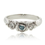 Blue Diamond White Gold Ring, Trieste Roses II