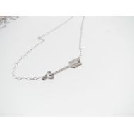 Arrow in Flight Necklace, Sterling Silver