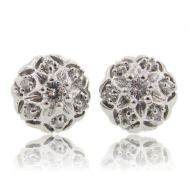 Bisnonna Earrings, Diamond & White Gold