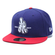 Dissizit NE Fitted - L or D - Nvy/Red