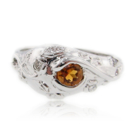 Early Morning Garden: Citrine & Sterling Silver