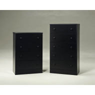 BLACK 5 DRAWER PROMO CHEST 195-05