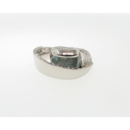 Raw Aquamarine Palladium Ring, Sweep