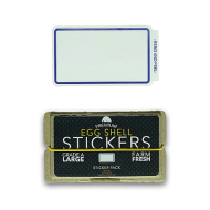Eggshell Sticker Pack - Blue Line - 80pk