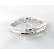 White Gold Band, Skinny Melted