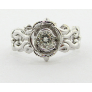 Diamond and Gold Ring, Victorian, A la Rose