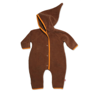 Zutano Elf Onesie Fleece Chocolate