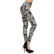 All Over Skull Print Leggings - O/S