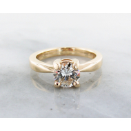 1ct. Diamond Solitaire, Yellow Gold, Round, Wexford Standard