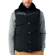 PENFIELD ROCK WOOL LEATHER VEST BLACK