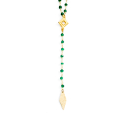 Y NECKLACE ROSARY STONE CHAIN