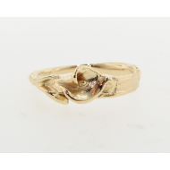 Magnificence, Single Calla Lily Ring in 18K Yellow Gold
