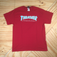 Skate Mag Logo Outline T-Shirt Red / Blue
