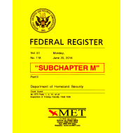 Subchapter M Towing Vessel Inspection Regulations MET BK-46-M