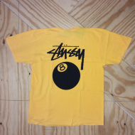 8 Ball Pigment Dye T-shirt Faded Yellow