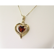 Citrine Heart Pendant, Yellow Gold