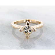 1ct. Diamond Yellow Gold Ring, Wexford Standard Solitaire, Princess