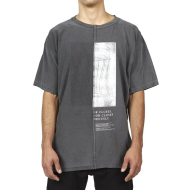 HYMNE HALF DOOR T-SHIRT - ASH