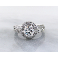 Diamond White Gold Engagement Ring, 1.5TDW