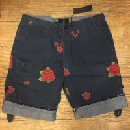 CONV FIELD SHORT NAVY ROSE 36