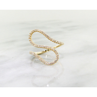 Diamond Curves Ring, Yellow Gold