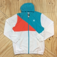 Courtside Windbreaker Jacket White / Energy Blue