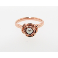 Stacking Solitaire Rose, Rose Gold & Pearl