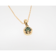 0.25ct Green Diamond Necklace, Yellow Gold