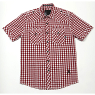 Dissizit S/S Button Up - Liberty - Red Gingham