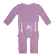 Kickee Pants Applique Coverall Prancing Pegasus