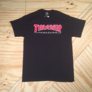 Skate Mag Logo Outline T-Shirt Black / Red