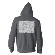 Allentown Map Zip Hoody Charcoal