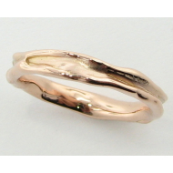 Rose Gold Band, Skinny Melted