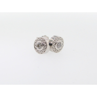 0.20ct Diamond Studs, Twist Design, White Gold