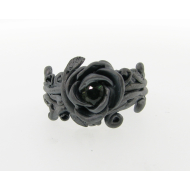 Rose Garland Wedding Set, Blackened Silver & Tourmaline