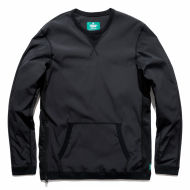 REIGNING CHAMP STRETCH SIDE ZIP CREW (BLACK)