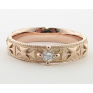 Prussian Band with Diamond, Rose Gold
