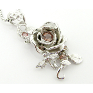 Summer Blooming Garden Pendant, Sterling Silver