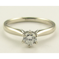Diamond Solitaire, White Gold, .28ct Diamond