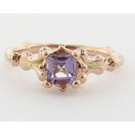 Motif Ring, Amethyst & Rose Gold