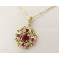Yellow Gold Ruby Pendant, Imperial