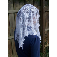 Long Floral Lace Veil/Mantilla