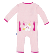 Kickee Pants Applique Coverall Lotus Ladybug
