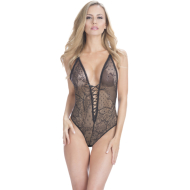Deep V Lace-Up Teddy