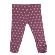 Kickee Pants Print Leggings w/ Heart Buttons Amethyst Berries 2T