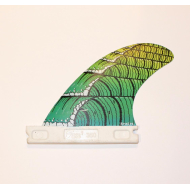 Hand painted wave surfboard fin
