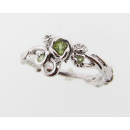 Rose Garden Ring with Peridot, Sterling Silver