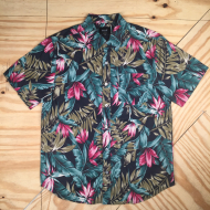 Huf Waikiki SS Woven Top MD Black / Turquoise