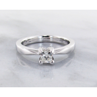 Diamond White Gold Solitaire, Wexford Standard, Princess