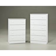 WHITE 5-DRAWER PROMO CHEST 193-05